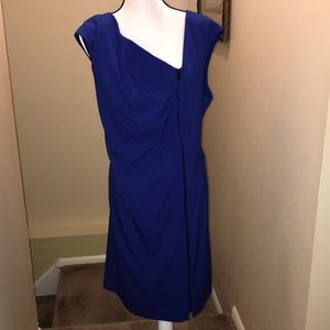 Calvin Klein 24w royal blue dress w front zipper